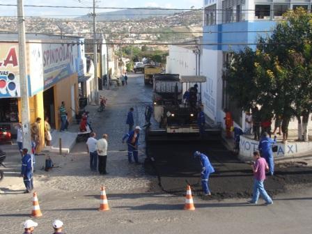 ações ozano gravatá asfalto rua do norte